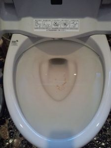 渋谷区のトイレつまり事例