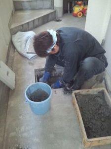 排水桝の修理